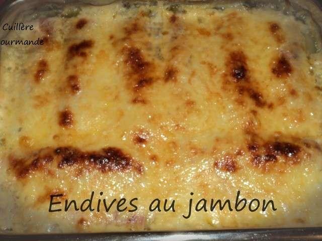 Recettes d 39 endives de cuill re gourmande - Recette endives au jambon ...
