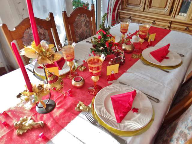 Recettes de cuill re gourmande - Table de noel rouge et or ...