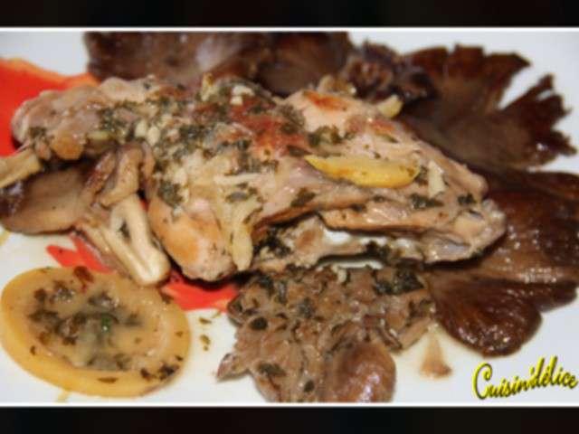 Recettes de pleurotes et lapin - Cuisiner les pleurotes ...