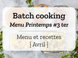 Batch cooking Printemps #3 ter – Mois d'Avril 2021 – Semaine 15