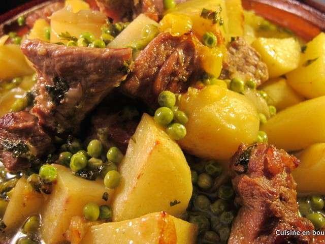 Recettes de tajine de cuisine en bouche for Petit pois cuisine