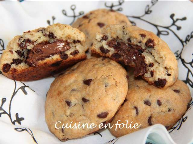 recettes de cookies et nutella. Black Bedroom Furniture Sets. Home Design Ideas