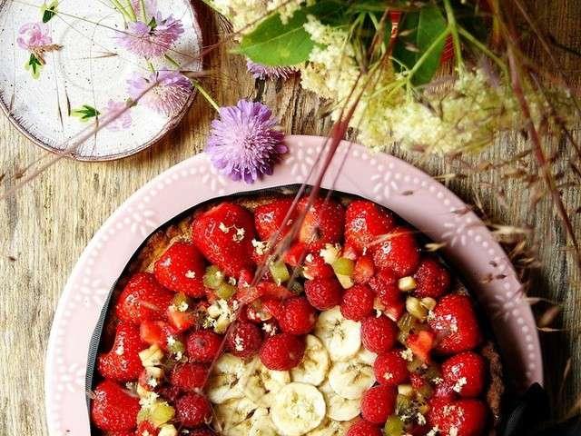 recettes de tarte aux fraises et rhubarbe les recettes. Black Bedroom Furniture Sets. Home Design Ideas