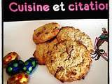 Cookies avoine sans oeufs au chocolat... on recycle le chocolat de pâques