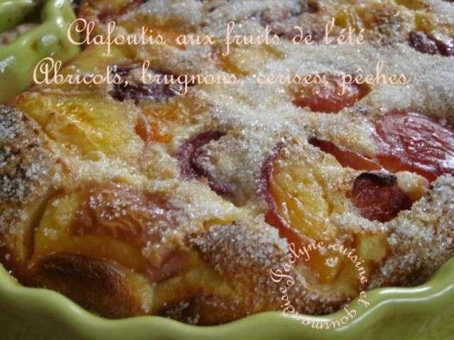 Clafouti aux fruits de l ete abricots brugnons cerises - Cuisine et gourmandise ...
