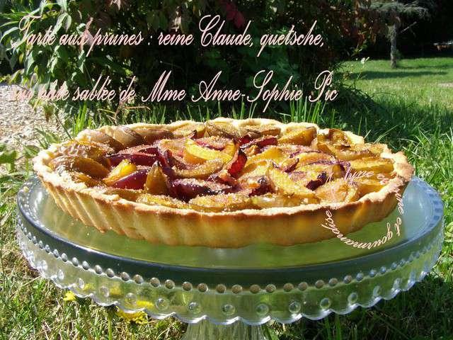 Les meilleures recettes de tarte aux prunes et quetsche - Cuisine et gourmandise ...