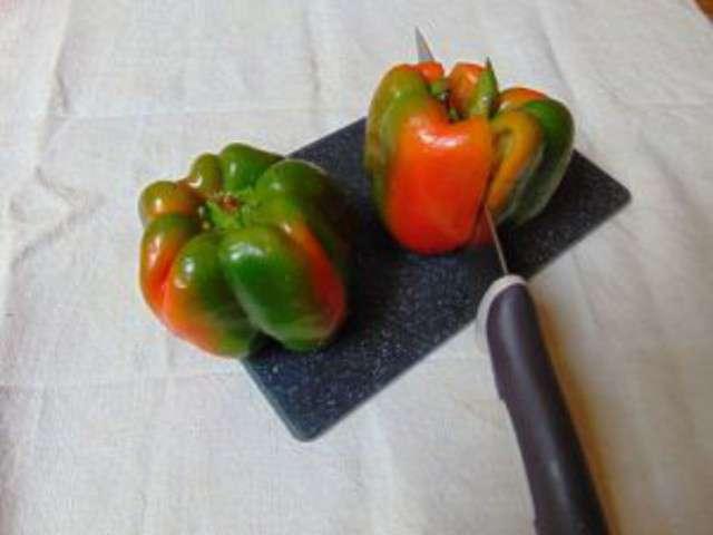 recettes de poivron farci et tomates. Black Bedroom Furniture Sets. Home Design Ideas