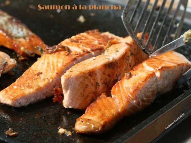 Les meilleures recettes de plancha et saumon for Poisson a la plancha