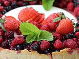 Tarte panna cotta aux fruits rouges