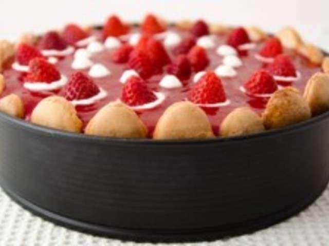 Recettes de charlotte aux fraises de cuisine maison - Jeux de charlotte aux fraises cuisine gateaux ...