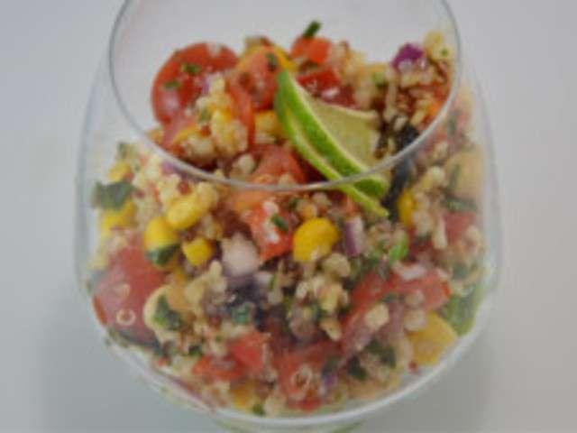 Recettes de salade de quinoa de cuisine maison for Cuisine quinoa