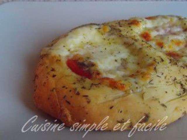 Fougasse tomate mozzarella facon - Cuisine simple et bonne ...
