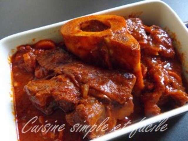 Les meilleures recettes de b uf et tomates - Comment cuisiner le jarret de veau ...