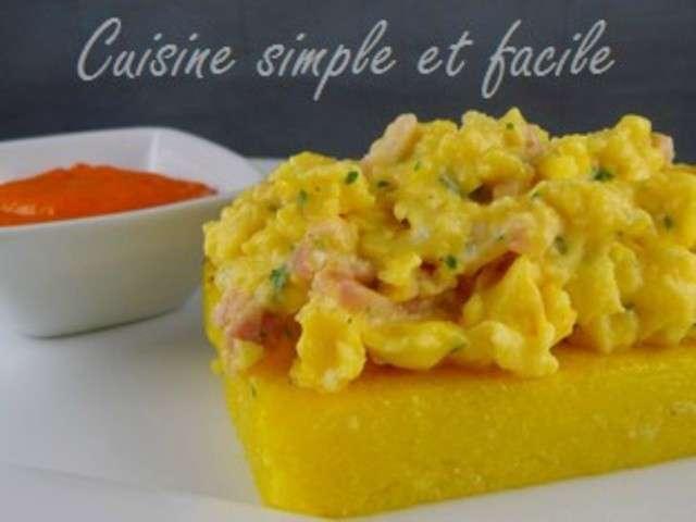 Recettes d 39 oeufs brouill s de cuisine simple et facile for Cuisine simple et facile