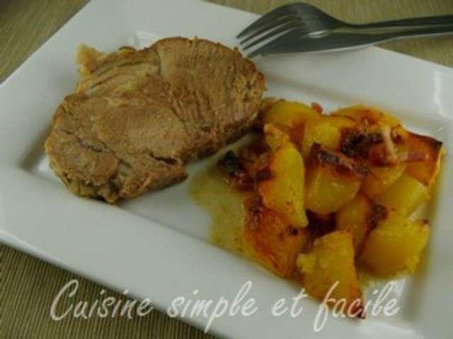 Recettes de r ti de porc et pomme de terre 2 - Recette echine de porc au four ...