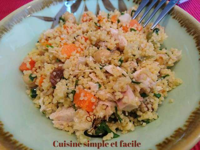 Recettes de salade de semoule de cuisine simple et facile for Cuisine simple et facile