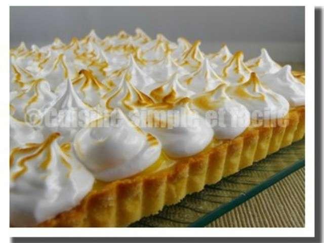 Recettes de tarte au citron meringu e de cuisine simple et - Recette tarte au citron simple ...