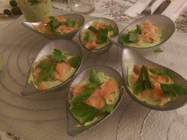 Recettes de verrines et saumon fum - Verrine simple et rapide ...