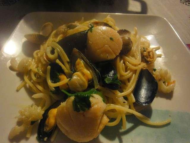 Recettes de fruits de mer 14 - Spaghetti aux fruits de mer ...