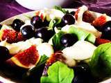 Salade figues/burrata aux raisin muscat