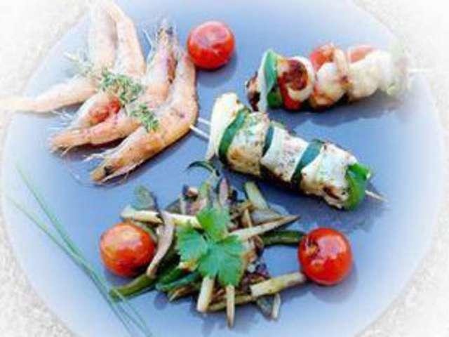 Recettes de brochettes et poisson for Poisson a la plancha
