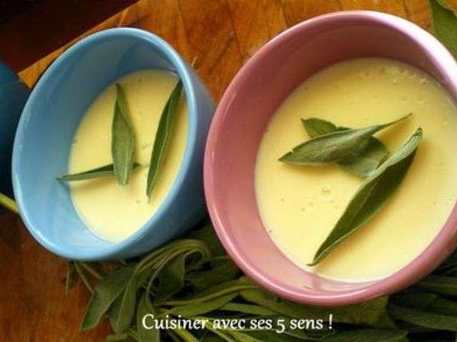 Recettes de cr me dessert de cuisiner avec ses 5 sens - Cuisiner avec la sauge ...