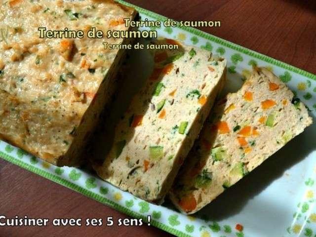 Recettes de terrine de saumon de cuisiner avec ses 5 sens - Cuisiner darne de saumon ...