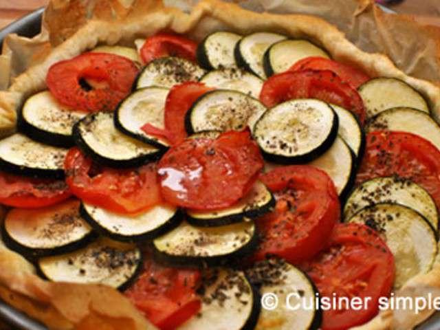 Recettes de tarte courgettes et tomates - Cuisiner les tomates sechees ...