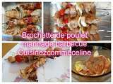 Brochette poulet marinade barbecue