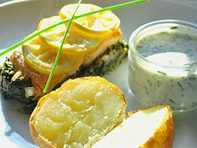 Les meilleures recettes de cuisine au four et saumon - Saumon papillote au four ...