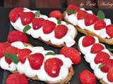 Eclairs fraises chantilly