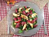 Salade sucrée-salée d'épinards aux gésiers de canard confit / Sweet and savoury spinash and gizzard salad