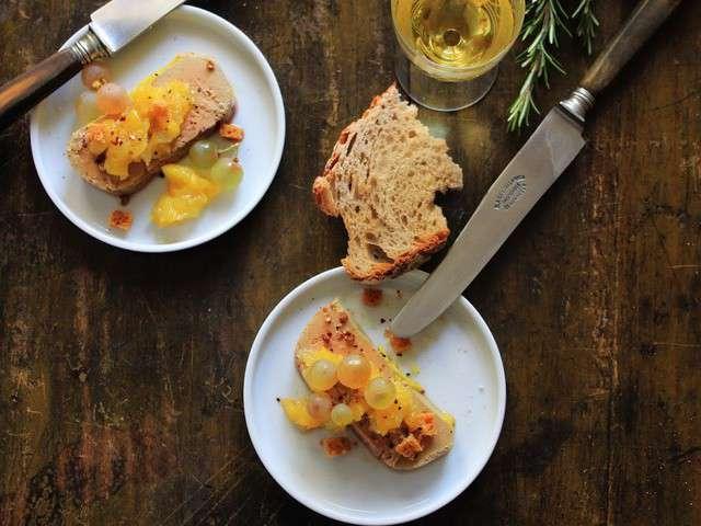 recettes de foie gras et mangue. Black Bedroom Furniture Sets. Home Design Ideas