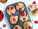 Muffins framboise & cardamome avec crumble