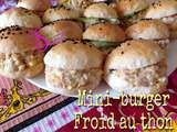 Mini-burger froid au thon