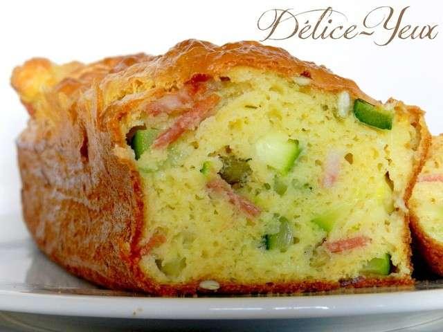 cake courgettes et carres frais