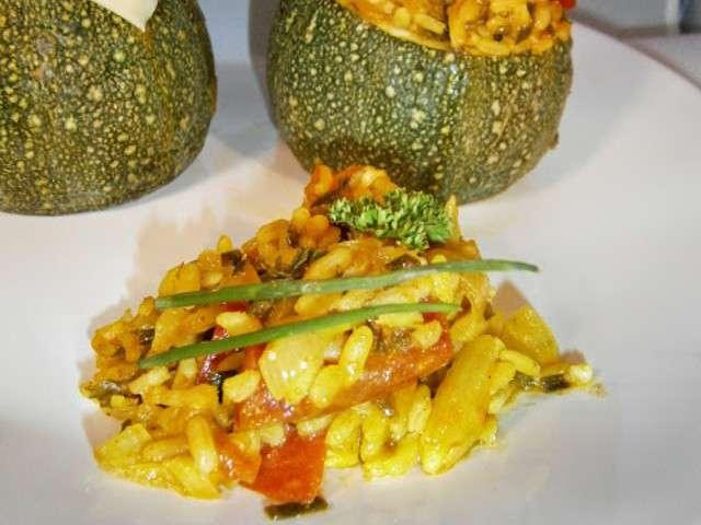 Recettes de curry et riz - Recette courgette farcie riz ...
