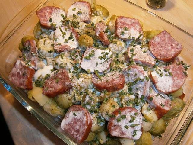 Recettes de choux de bruxelles et saucisse - Choux de bruxelles recette gratin ...