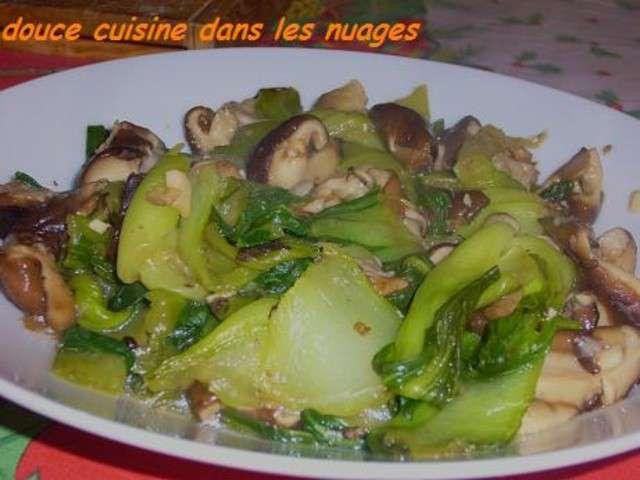 Les meilleures recettes de pak cho et champignons - Cuisson pak choi ...