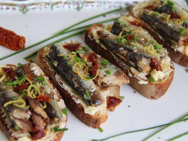 Recettes de tartines et sardines - Cuisiner des filets de sardines fraiches ...