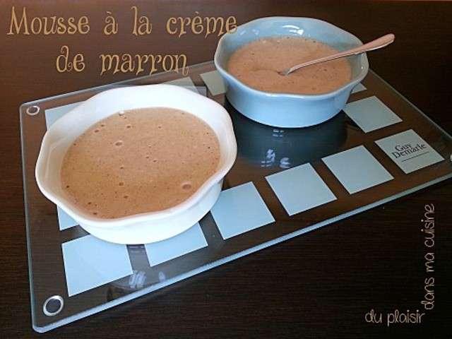 Recettes de mousses et marron 7 - Mousse a la creme de marron ...