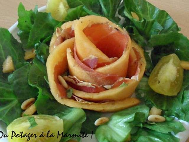 Les meilleures recettes de salades et melon - Melon jambon cru presentation ...