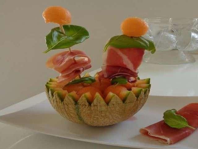 Recettes de melon et porto for Entree originale ete