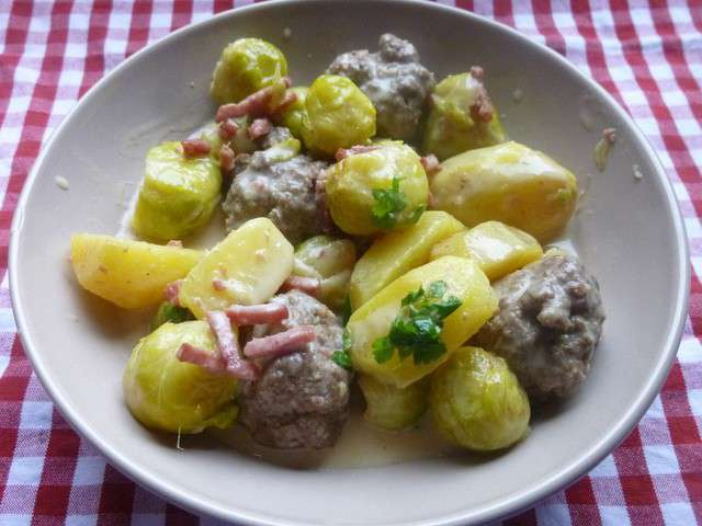 Recettes de choux de bruxelles et boulettes - Cuisiner chou de bruxelles ...