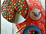 Cheesecake bretzels et m&m's