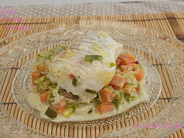 Recettes de julienne 9 - Filet de poisson sur lit de poireaux ...