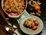 Crumble prunes noisettes