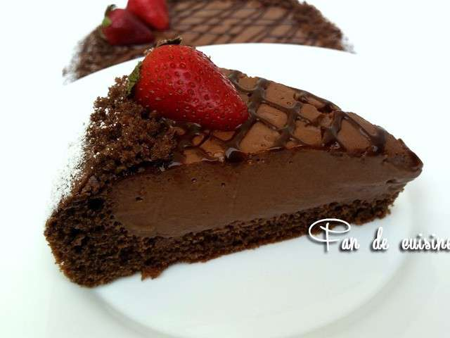 Gateau brownie flan