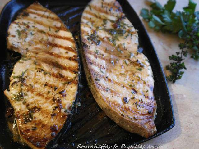 Recettes d 39 espadon et citrons - Steak d espadon grille sauce combava ...