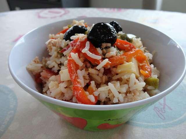 Salade De Riz Au Thon Et Aux Poivrons